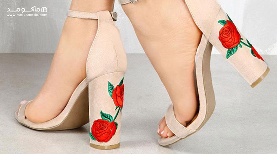 خرید کفش پاشنه پهن زنانه