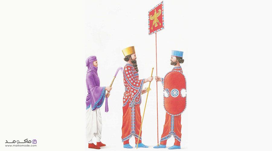 پوشاک مردان و زنان در دوره هخامنشیان