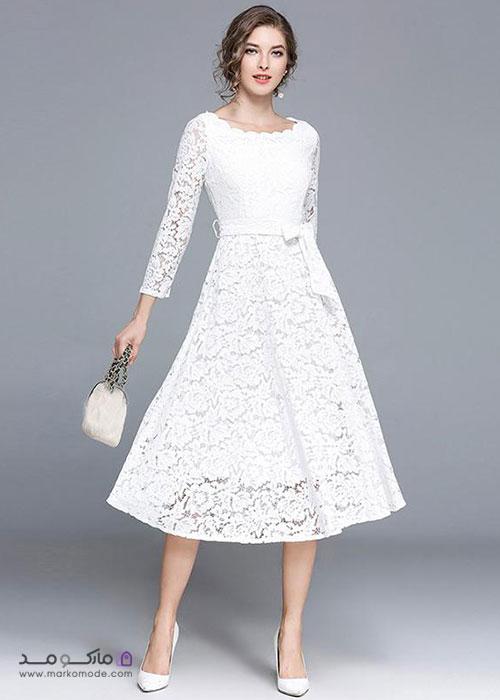 ست کردن لباس سفید با کفش