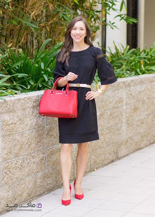 کیف قرمز زنانه مجلسی