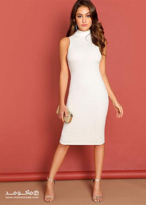 لباس سفید کوتاه