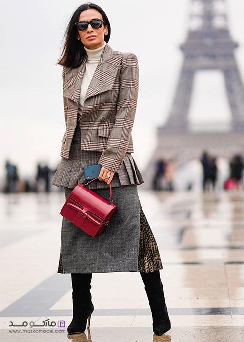 کیف قرمز زنانه کژوال