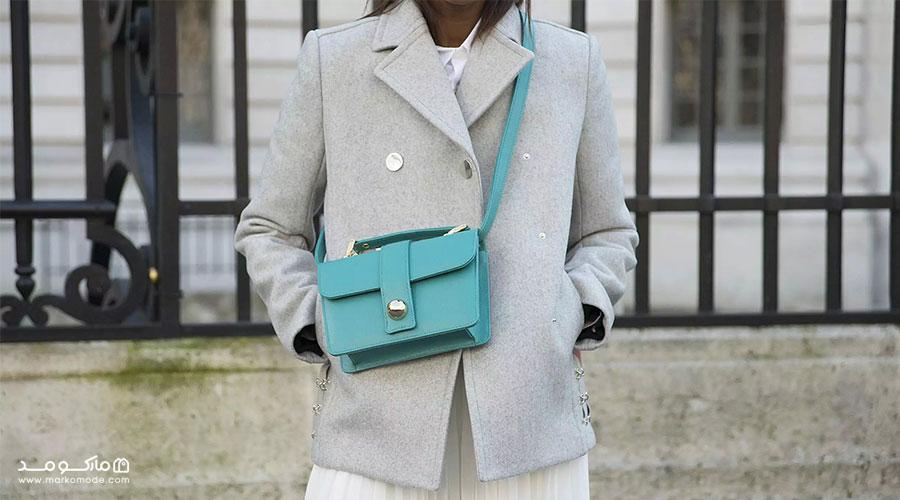 کیف به رنگ سبز آبی