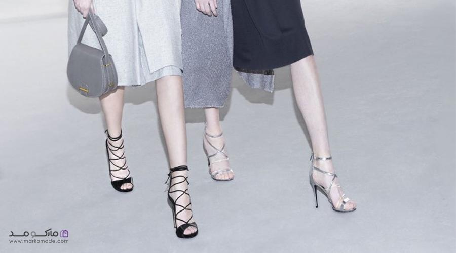انواع کفش مجلسی دخترانه پاشنه بلند